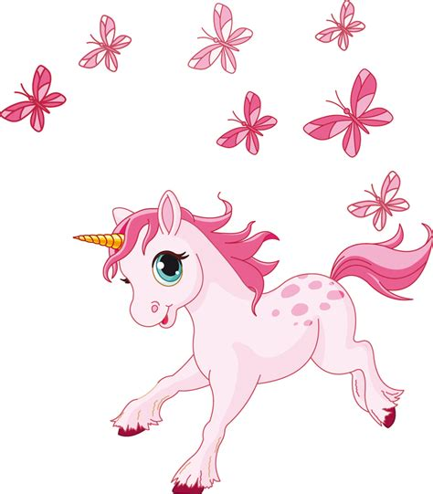 imagenes unicornios infantiles stickers licorne papillons pas cher
