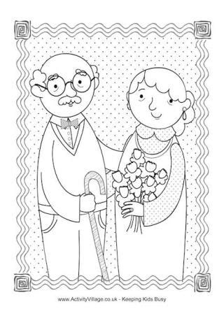 grandparents day greeting card templates grandparents day colouring pages