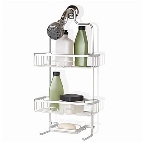bed bath and beyond shower caddy buy org neverrust shower caddy from bed bath beyond