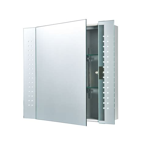 Mirror Bathroom Cabinets Uk | 60894 revelo bathroom wall mirror cabinet shaver