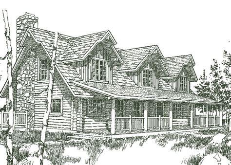 spruce creek level log homes floor plan