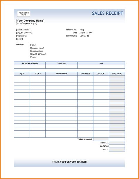 template for business receipt business receipt template mughals