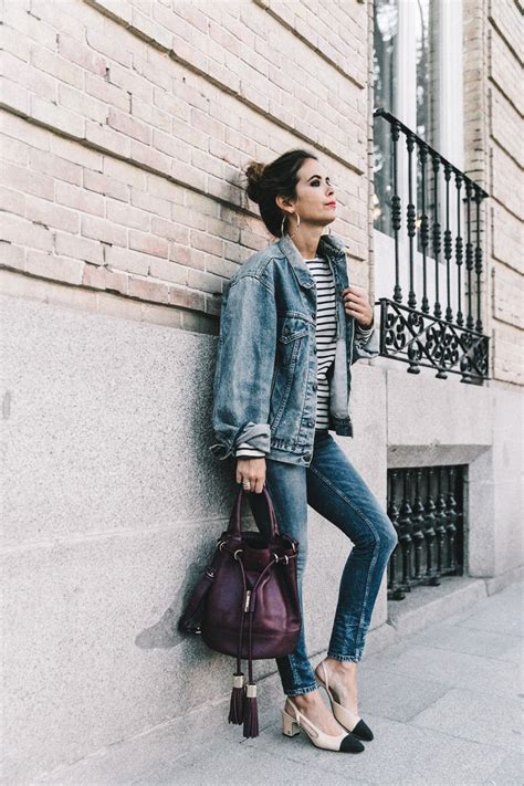 chaqueta de blue jean cut paste blog de moda