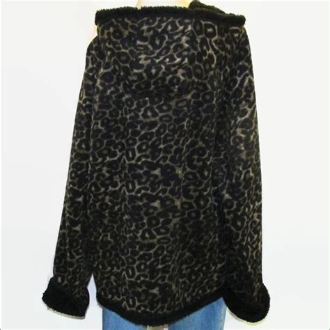 Print Fleece Arm Sleeves 61 faded outerwear leopard animal print