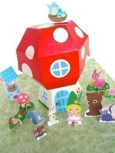 crafts pdf cottage dollhouse playset printable paper craft