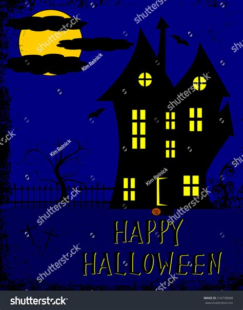 haunted house website design halloween haunted house abstract design stock photo 216738088 shutterstock