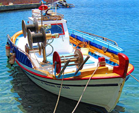 fishing boat greece greek fishing boat photograph by andreas thust