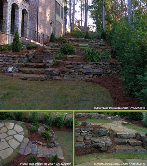 landscaping a hillside backyard retainer walls landscaping outdoors pinterest lakes