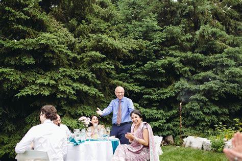 backyard wedding toronto multicultural toronto backyard wedding tamara and jakub