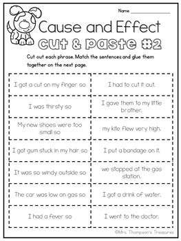 Cause and Effect by Mrs Thompson's Treasures | Teachers