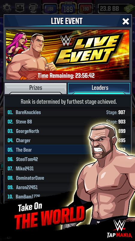 wwe card game mod apk wwe tap mania apk mod money all currency download for