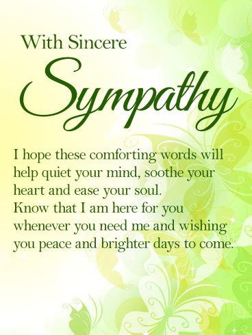 comforting words of sympathy to write in a card i am here for you sympathy card express your heartfelt