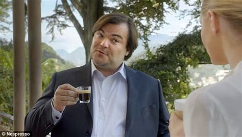 nespresso commercial actress jack black nicky whelan stars with george clooney and jack black in