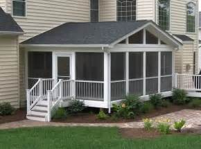 screened in deck screened in porch cost screened in porch
