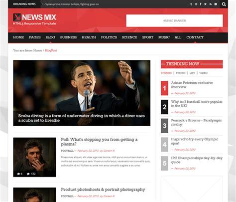 wordpress themes mix 50 responsive best free magazine wordpress themes 2018