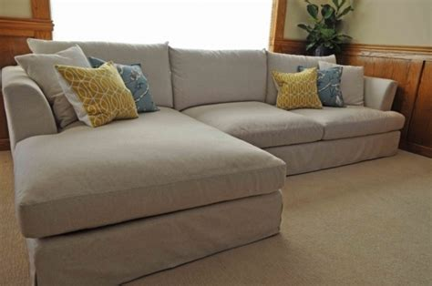 classic slipcover sectional sofa with chaise photos 75