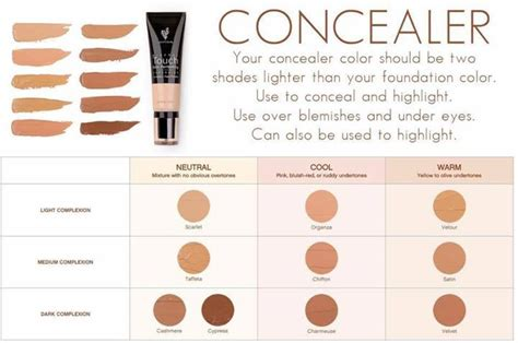 what is my foundation color younique touch concealer color chart find your shade