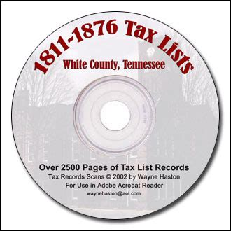 White County Records White County Tn County Records On Cd