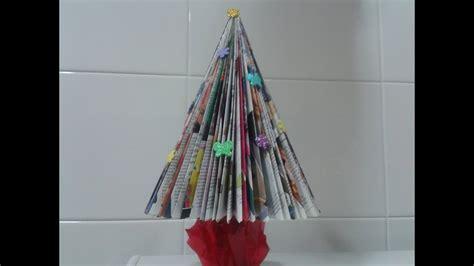arboles de navidad hechos con revistas 193 rbol de navidad con una revista