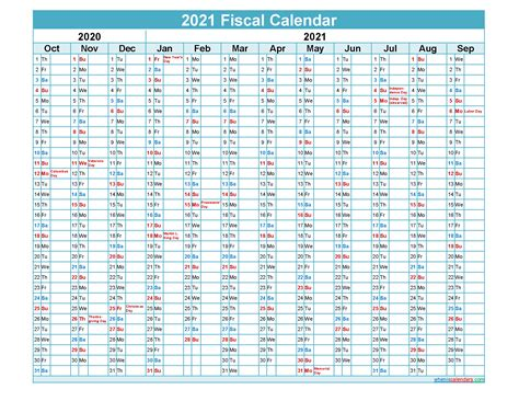 fiscal calendar  federal fiscal year template