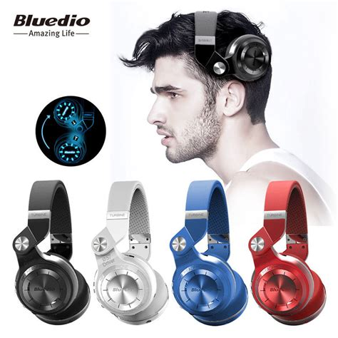Promo Bluedio H Plus Turbine Headphone With Bluetooth 4 1 Putih bluedio turbine t2 plus t2 bluetooth 4 1 wireless headset fm radio micro sd card