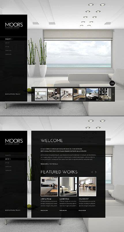interior design website template  maketirovanie