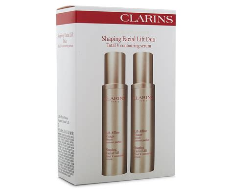 Clarins Shaping Lift Total V Contouring Serum 2ml clarins shaping lift duo total v contouring serum 50ml groceryrun au groceries