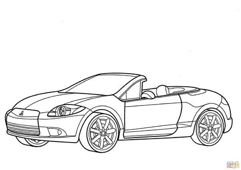 mitsubishi eclipse drawing mitsubishi car drawing coloring coloring pages