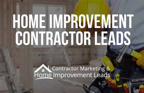 lead generation solutions for home improvement contractors