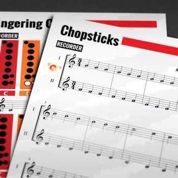 recorder sheet  chopsticks  celebrated chop