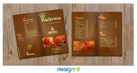 menu card design layout 10 most appetizing restaurant menu card design