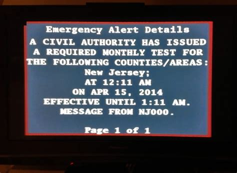 New Tv Alert by A Warning Just Briefly Interrupted My Tv Broadcast And It