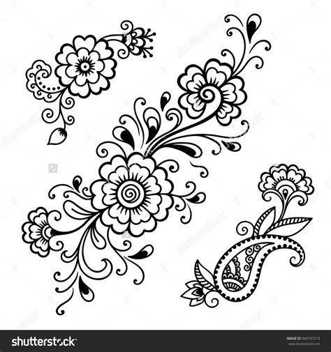 henna tattoo designs printable henna flower template mehndi mehndi