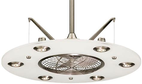 Ceiling Fan Retractable Blades l 225 mpara de techo futurista con ventilador