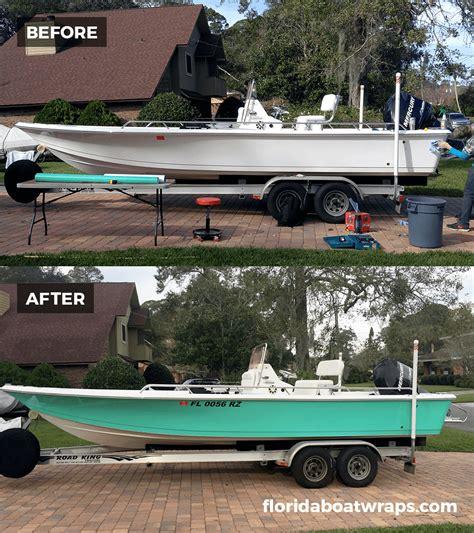 vinyl boat wrap colors wrapped up boat vehicle wraps daytona beach florida