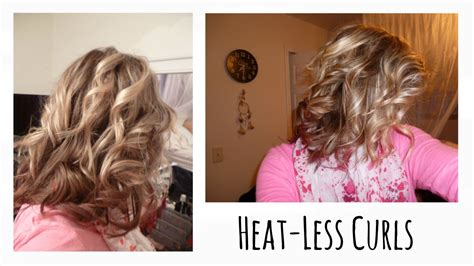 style long bob no heat heat less curls overnight head band curls short hair