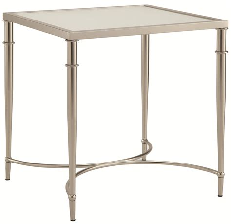 frosted glass end table 70334 end table with metal legs and frosted glass top