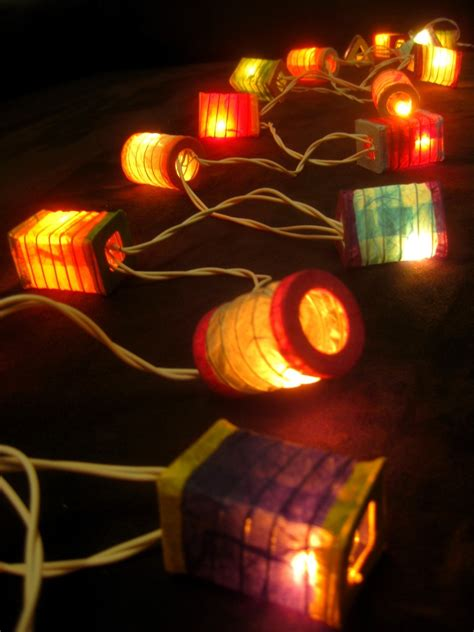 mini lantern string lights 20 multicoloured battery operated mini chinese led string