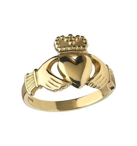 gents heavy gold claddagh ring ardri jewellery
