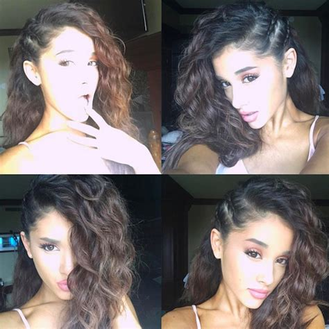 is ariana grande s hair real no more ponytail ariana grande tries to change up her