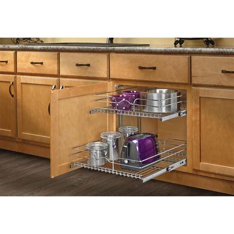 Kitchen Cupboard Organizers - rev a shelf 19 in h x 20 75 in w x 22 in d base cabinet