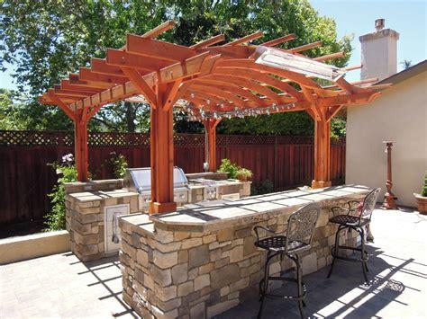 outdoor kitchen with pergola outdoor kitchen pergola custom redwood kitchen pergola kit