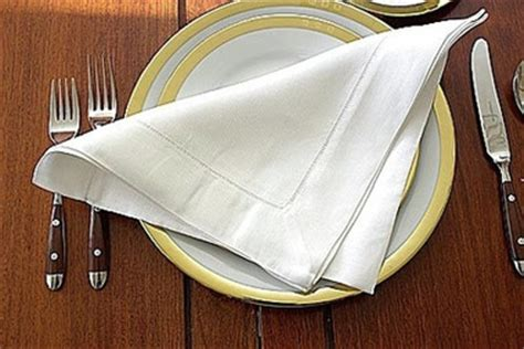 Dining Table Napkin Folding Proper Use Of Utensils And Napkin Business Etiquette