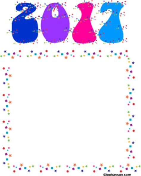 new year border paper new year confetti border paper