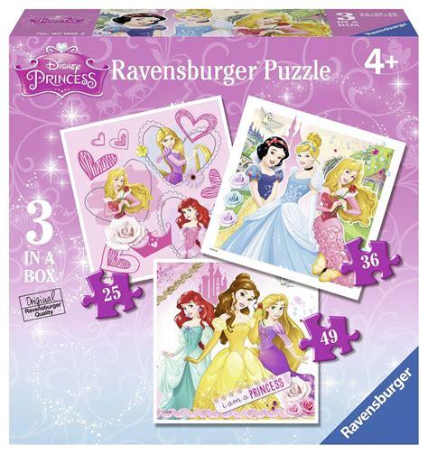 10 disney princess floor puzzle 3 jigsaw puzzles disney princess ravensburger 07008 25