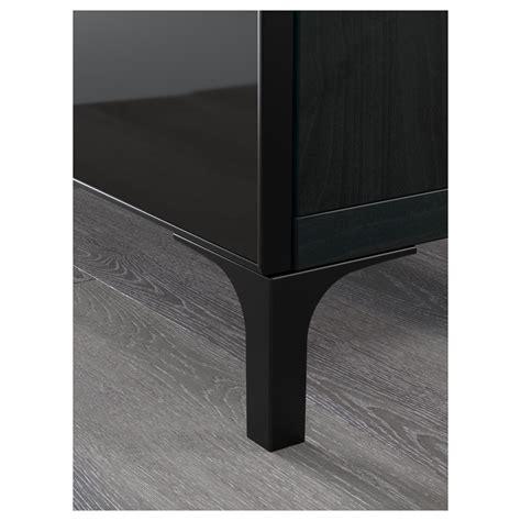 besta zwart best 197 tv meubel zwartbruin selsviken hoogglans zwart