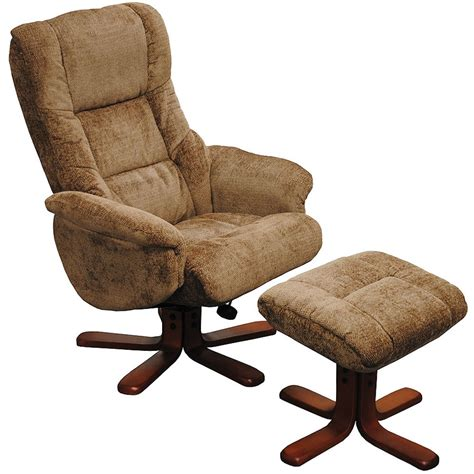 recliner chairs and footstools shangri la swivel recliner with footstool sofasworld