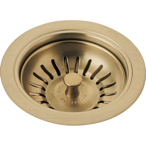 delta 4 1 2 in kitchen sink flange and strainer in
