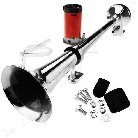 boat horn placement 12v 150db super loud single trumpet air horn compressor