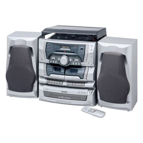 home gt curtis shelf system with 3 disc changer dual